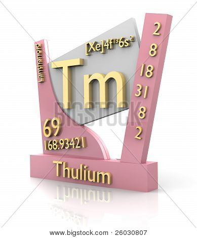 Thulium form Periodic Table of Elements - 3d made poster