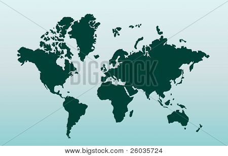 Map of world. Vector illustration