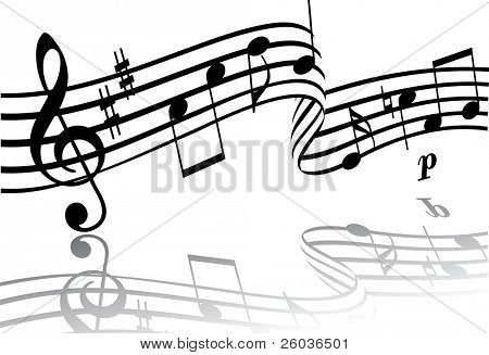 Abstract musical background. Vector illustration