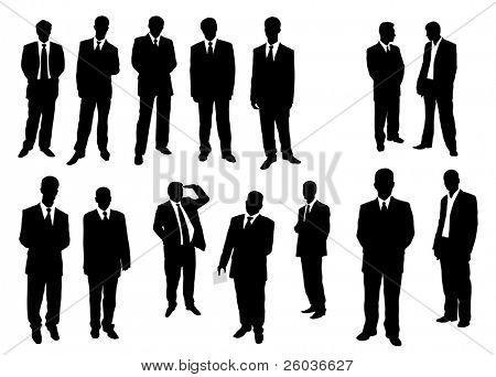 Collection of businessman. Vector illustration