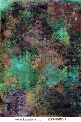 Color Night. Saturated, watercolor abstract colorful background. poster