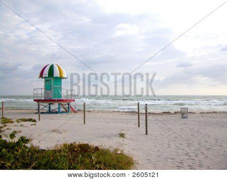 Beach And Lifeguard Hut