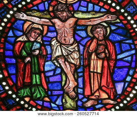 The Crucifixion Of Jesus - Stained Glass