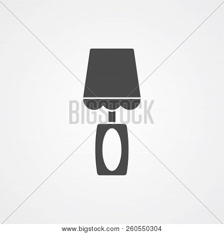 Night Bedside Lamp Outline Icon. Linear Style Sign For Mobile Concept And Web Design. Table Lamp Sim