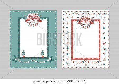 Christmas Frame Vector Photo Free Trial Bigstock