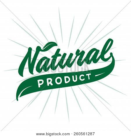 Natural Product Design Template. Vector And Illustration.