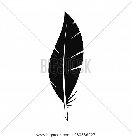 Abstract Feather Icon. Simple Illustration Of Abstract Feather Vector Icon For Web Design Isolated O