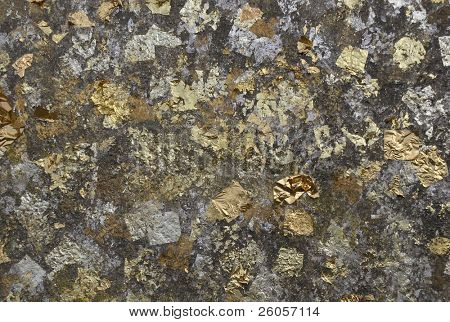 goldleaf on a buddah close-up background  texture
