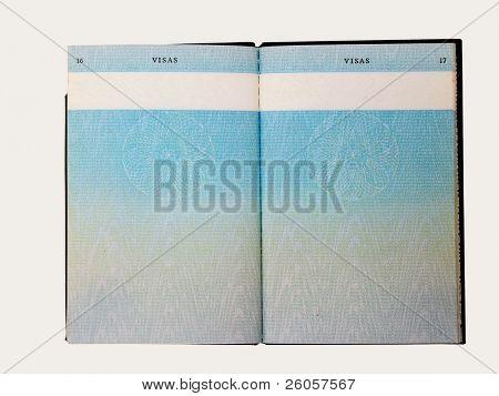 grungy old passport