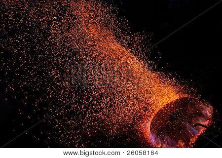 Spraying Fire