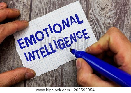 Handwriting Text Writing Emotional Intelligence. Concept Meaning Self And Social Awareness Handle Re