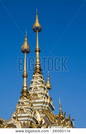 golden steeples  chang mai thailand