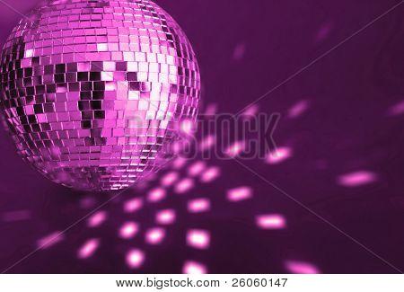 big purple  disco ball