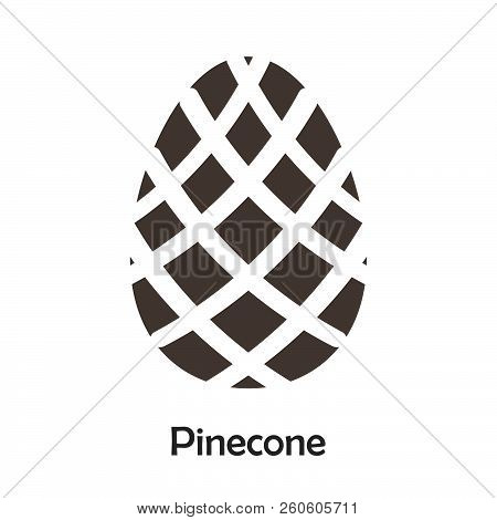 Pinecone In Cartoon Style, Card With Fruit For Kid, Preschool Activity For Children, Vector Illustra