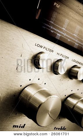 old dirty fm tuner(retro color image )