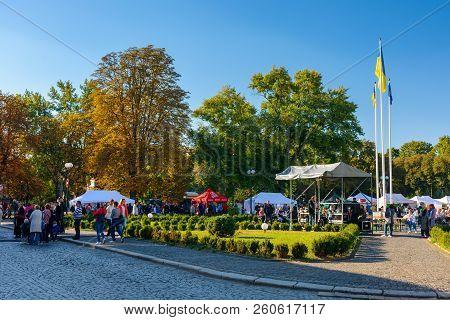Uzhgorod, Ukraine - Sep 28, 2018: Czech Days In Transcarpathia Festival. 100 Year Celebration Of Cze