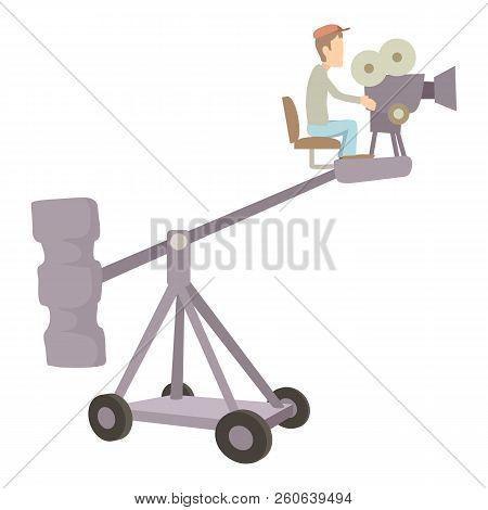 Difficult Filming Icon. Cartoon Illustration Of Difficult Filming Icon For Web