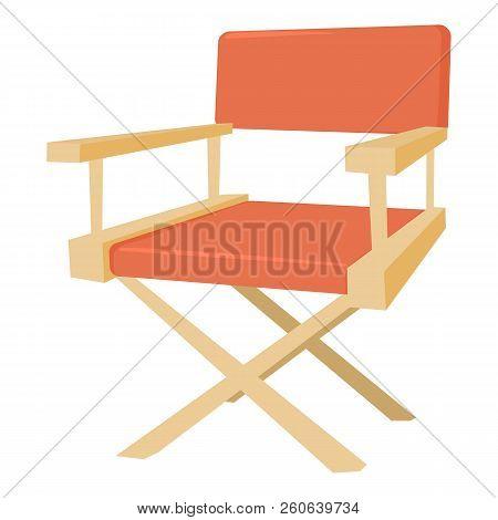 Film Director Chair Icon. Cartoon Illustration Of Film Director Chair Icon For Web