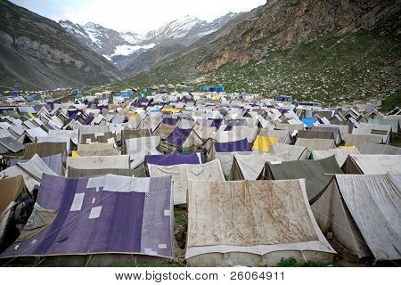 Exodus: Piligrims' camp in the Himalayas