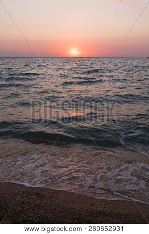 Sunrise. Morning Sky At Sunrise. Sea At Sunrise. Morning Breeze On The Ocean.