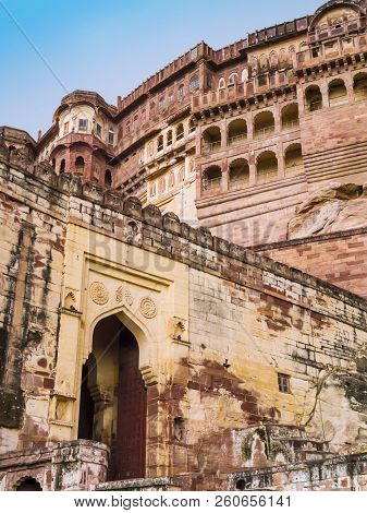 Stunning View Of Maharajah Palace In  Mehrangarh Fort, Jodphur, Rajasthan, India