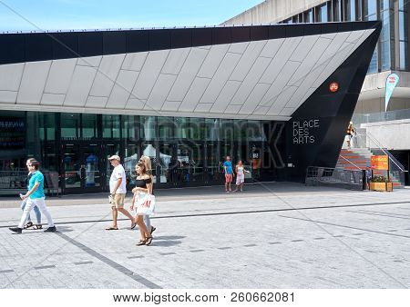Montreal, Canada - September 8, 2018: Place Des Arts In Montreal. Place Des Arts Is The Largest Cult