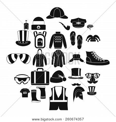 Buying Winter Clothes Icons Set. Simple Set Of 25 Buying Winter Clothes Vector Icons For Web Isolate