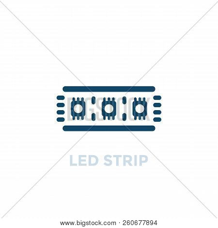 Led Strip Vector Icon, Eps 10 File, Easy To Edit