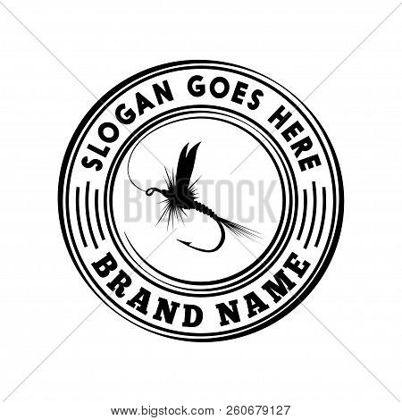 Fly Fishing Logo Template. Vector And Illustration.