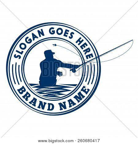 Fly Fishing Logo Design. Vector And Illustration.