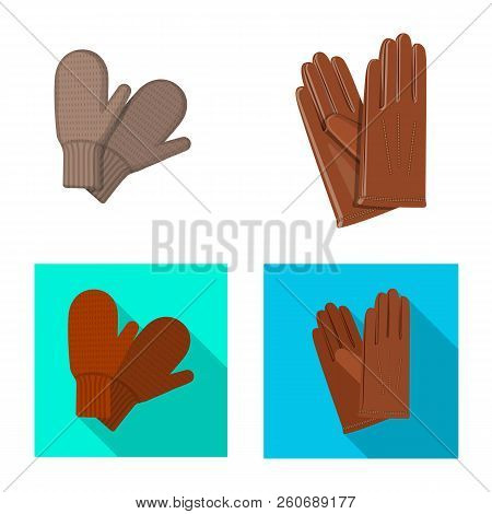 Isolated Object Of Glove And Winter Icon. Collection Of Glove And Equipment Stock Vector Illustratio