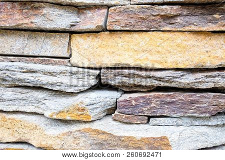 Stone Cladding Background Color Image Stock Photos