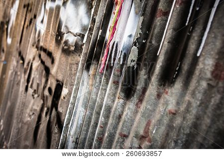 Dirty And Rusty Metal Sheet Fences