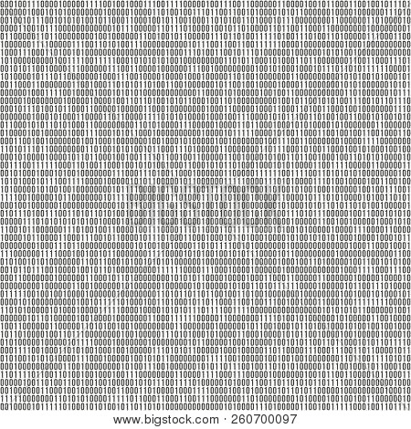 Binary Code Vector Background With Numbers One And Zero. Seamless Patern. Coding Or Hacker Concept,