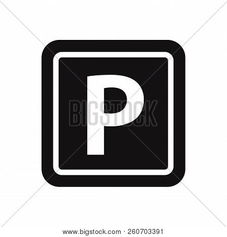 Parking Icon Isolated On White Background. Parking Icon In Trendy Design Style. Parking Vector Icon