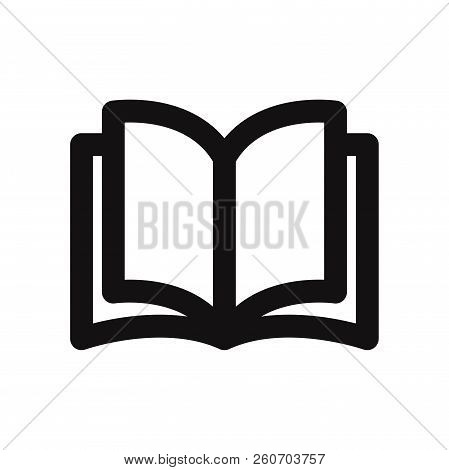 Open Book Icon Isolated On White Background. Open Book Icon In Trendy Design Style. Open Book Vector