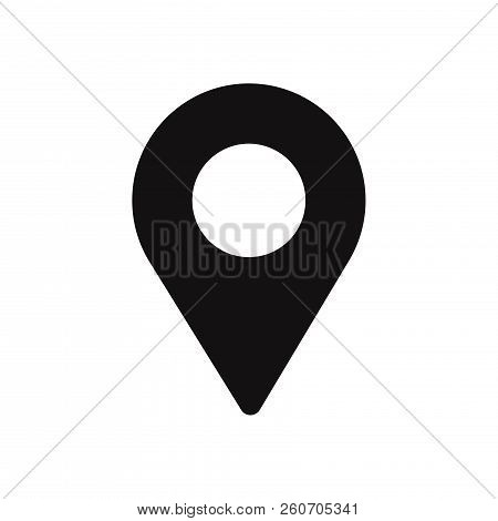Gps Icon Isolated On White Background. Gps Icon In Trendy Design Style. Gps Vector Icon Modern And S