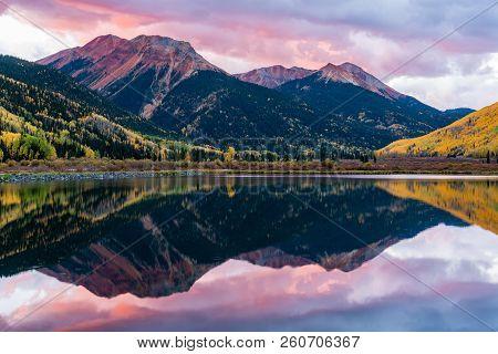 Autumn Scenery In The Beautiful San Juan  Mountains Of Colorado