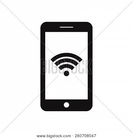 Smartphone With Wifi Icon Isolated On White Background. Smartphone With Wifi Icon In Trendy Design S