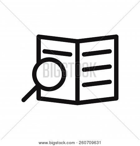 Search Document Icon Isolated On White Background. Search Document Icon In Trendy Design Style. Sear