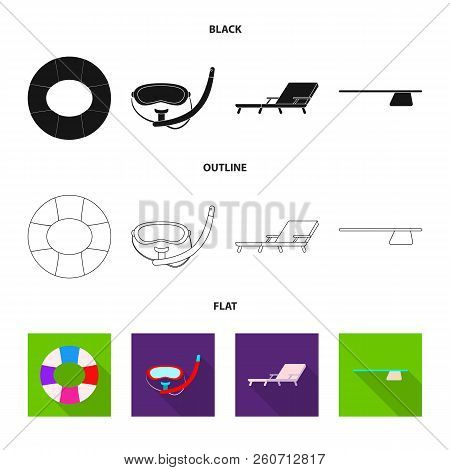 Isolated Object Of Pool And Swimming Icon. Collection Of Pool And Activity Stock Vector Illustration