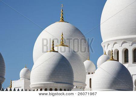 Domes of Sheikh Zayed Mosque in Abu Dhabi, United Arab Emirates
