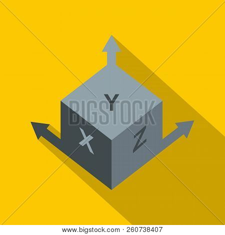 Area or size dimension icon. Flat illustration of area or size dimension icon for web isolated on yellow background poster