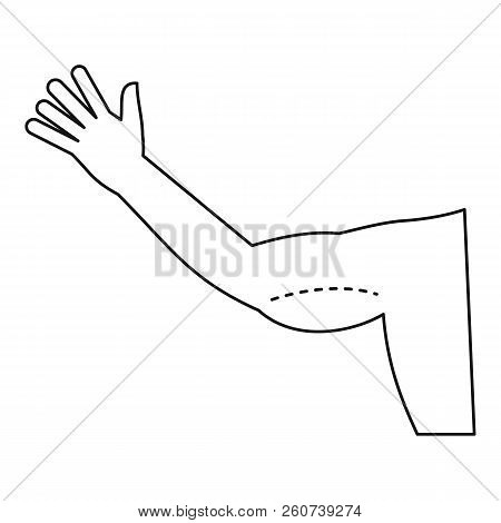 Plastic Surgery, Flabby Arm Correction Icon. Outline Illustration Of Plastic Surgery, Flabby Arm Cor