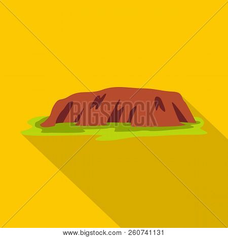 Ocean Cliff Icon. Flat Illustration Of Ocean Cliff Icon For Web