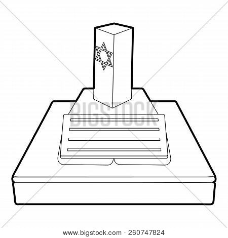 Jevish Grave Icon. Outline Illustration Of Jevish Grave Icon For Web