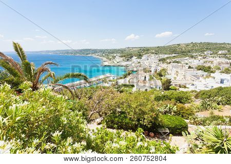 Apulia, Castro Marina, Italy - A Beautiful View Across The City Of Castro Marina