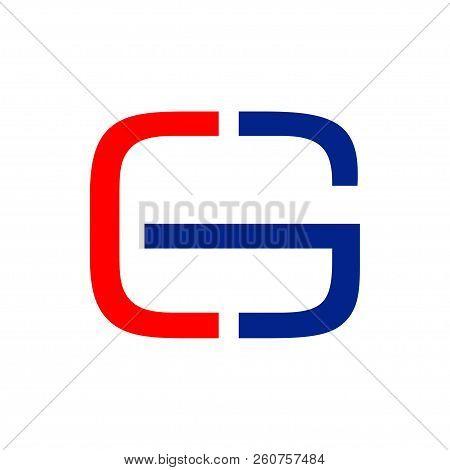 Cg Initials Cut Half Lettermark Vector Symbol Graphic Logo Design Template