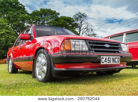 Tain, Scotland - June 17 2018: Classic Ford Orion At A Vintage Car Rally