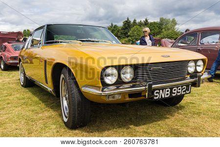 Tain, Scotland - June 17 2018: Classic Jensen Interceptor At A Vintage Car Rally